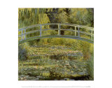 Water Lily Pond and Bridge Poster af Claude Monet