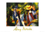 Girls Under the Trees Posters by Auguste Macke