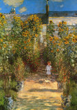 The Monets Garden at Vetheuil Imágenes por Claude Monet