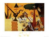 Terre Labouree, c.1923 Plakater av Joan Miró