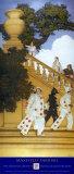 Florentine Fete, Stairway to Summer Poster von Maxfield Parrish