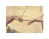 Skabelsen af Adam, ca. 1510 (detaljer) Posters af Michelangelo Buonarroti