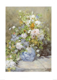 Vase of Flowers Posters by Pierre-Auguste Renoir