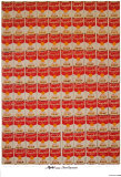 100 Campbell&#39;s Soup Cans Art by Andy Warhol