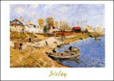 Sand on the Quayside at Port-Marly Poster by Alfred Sisley