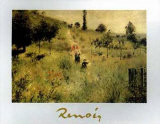 Path Bordered by Tall Grass Posters by Pierre-Auguste Renoir