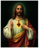 Sacred Heart of Jesus Prints by  Zabateri