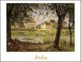 Village on the Banks of the Seine Posters by Alfred Sisley
