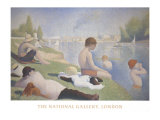 Bathers at Asnieres ポスター : ジョルジュ・スーラ