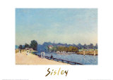 Road from Hampton Court Posters by Alfred Sisley