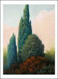Tuscan Trees I Poster by Alan Stephenson