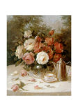 Roses Jaunes Poster von Angela Vernetti