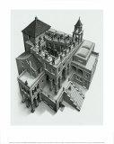 Ascending and Descending Plakater af M. C. Escher