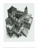 Treppauf und Treppab Kunstdrucke von M. C. Escher