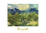 Landscape with Olive Trees Poster by Vincent van Gogh