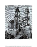 Chute d'eau Posters par M. C. Escher