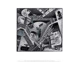 Relatividad Láminas por M. C. Escher