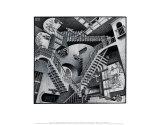 Relatividade Posters por M. C. Escher