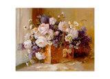 Korb voll Blumen Poster von Angela Vernetti