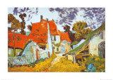 Street in Auvers (Les Toits Rouges), c.1890 Poster par Vincent van Gogh