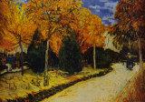 Herbstgarten Poster von Vincent van Gogh