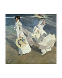 Walk on the Beach Poster by Joaquín Sorolla y Bastida
