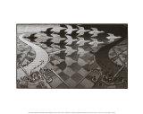 Jour et nuit Affiches par M. C. Escher