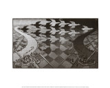 Tag und Nacht Kunstdruck von M. C. Escher