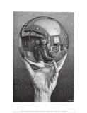 M. C. Escher - Hands with Sphere Umění