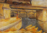 The Bridge at Asnieres Print by Vincent van Gogh