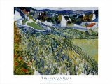 Vineyards at Auvers, c.1890 Posters by Vincent van Gogh