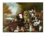 The Peaceable Kingdom, 1834 Posters av Edward Hicks