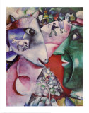 I and the Village Poster van Marc Chagall