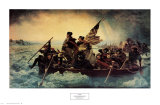 Washington Crossing the Delaware, c.1851 Art by Emanuel Leutze