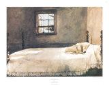 Großes Schlafzimmer Kunstdruck von Andrew Wyeth