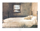 Camera da letto padronale Poster di Andrew Wyeth