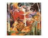 Cerf dans la for&#234;t I Affiches par Franz Marc