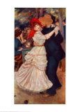 Dance at Bougival Posters van Pierre-Auguste Renoir