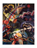Composición: tormenta Lámina por Wassily Kandinsky