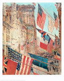 Jour des Alli&#233;s, mai 1917 Affiches par Childe Hassam