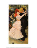 Dance at Bougival Art by Pierre-Auguste Renoir