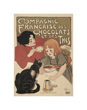 Compagnie Francaise des Chocolats Art by Th&#233;ophile Alexandre Steinlen