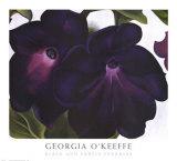 黒と紫のペチュニア アート : ジョージア・オキーフ