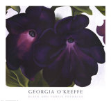 Svarta och lila petunior|Black and Purple Petunias Konst av Georgia O'Keeffe