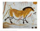 Gelbes Pferd Kunstdrucke