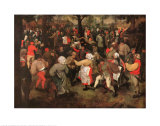 Wedding Dance Posters by Pieter Bruegel the Elder