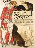 Cheronin klinikka, Clinique Cheron, n. 1905 Julisteet tekijänä Théophile Alexandre Steinlen