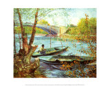 Fishing in the Spring, Pont de Clichy, c.1887 Prints by Vincent van Gogh