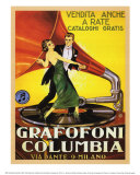Grafofoni Columbia 1920 Julisteet