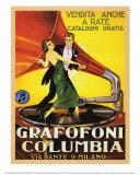 Grafofoni Columbia 1920 Posters
